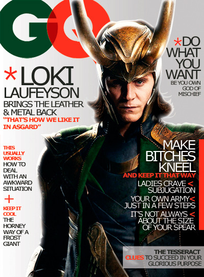 "lokii-d:  kabezonita:  The ultimate GQ Magazine issue ""Loki Laufeyson brings the leather & metal back""  Holy fuck  Make it, I need it!"