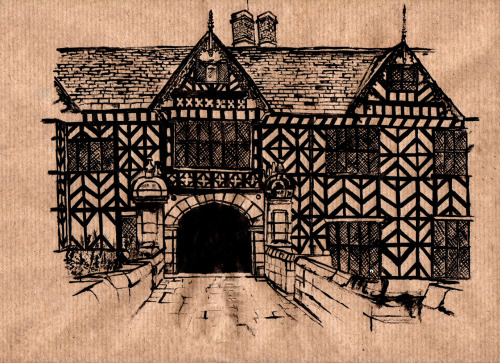 Stick and Ink on Postage Paper, Speke Hall