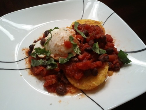 Made this delicious Ranchero Eggs over Polenta when I was craving breakfast for dinner. Even though I still find poaching eggs intimidating, it worked great!  Sheena Chihak, RD - Food and Health Editor