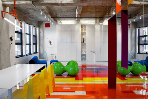 its clear Contemporary Art Collector's Dynamic Colorful Loft by Ada Teicu