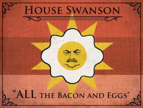 Bacon is coming.   Parks & Rec is one month away.