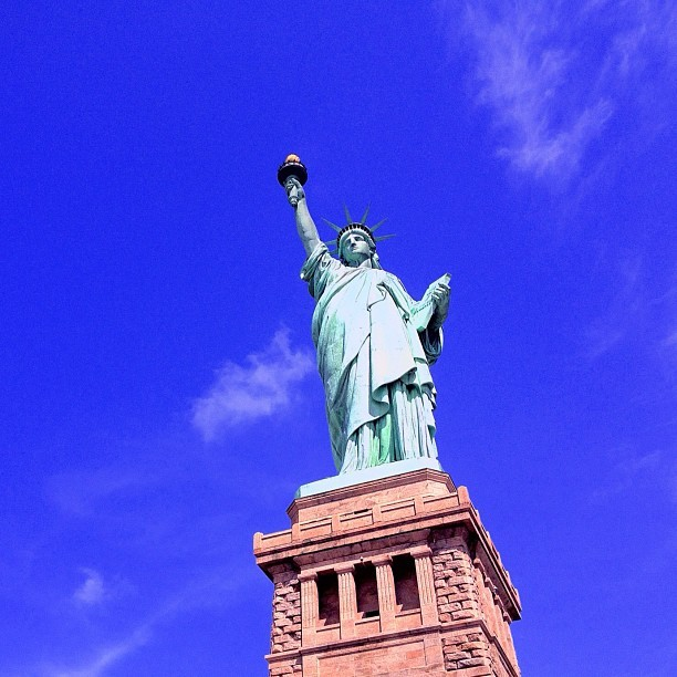 Statue. (Taken with Instagram at Statue of Liberty)