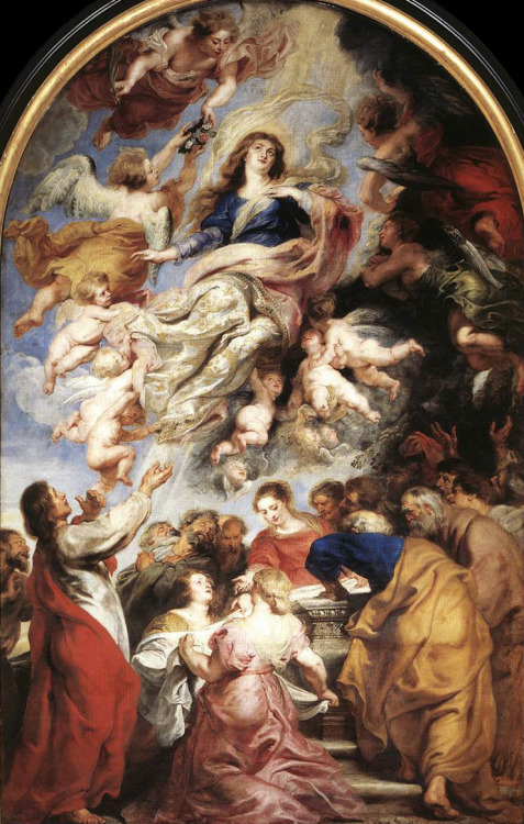 historyofbaroqueart:  Assumption of the Virgin by Peter Paul Rubens Date: 1626