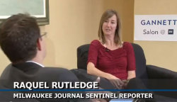 Raquel Rutledge, a Milwaukee Journal Sentinel reporter and 2010 Pulitzer Prize winner in local reporting, is interviewed by Gannett's Mackenzie Warren at the IRE Conference in Boston on Friday.  Click the photo to watch the interview.
