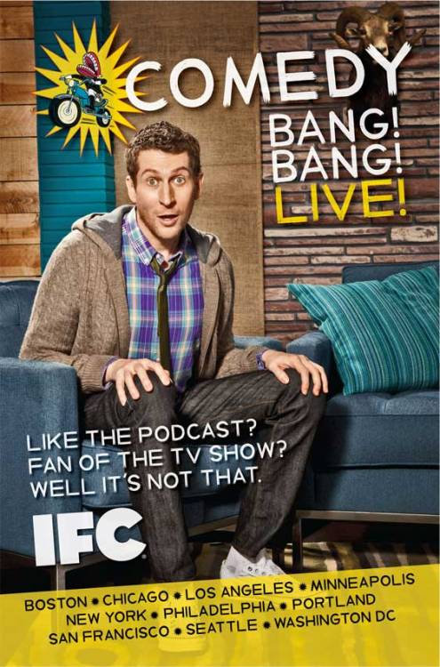 popculturebrain:  Comedy Bang! Bang! Is Going on Tour | IFC Scott Aukerman & Friends kick off national Comedy Bang! Bang! LIVE! tour Sunday, July 15 The Casbah - San Diego, CA Sunday, July 29 Cedar Cultural Center - Minneapolis, MN Monday, July 30 Logan Square Auditorium - Chicago, IL Wednesday, August 1 Neptune Theatre - Seattle, WA Thursday, August 2 Aladdin Theater - Portland, OR Friday, August 3 Herbst Theater - San Francisco, CA Saturday, August 4 First Unitarian Church - Los Angeles, CA Monday, August 6 Royal - Boston, MA Tuesday, August 7 Highline Ballroom - New York City, NY Wednesday, August 8 Howard Theatre - Washington, DC Thursday, August 9 Trocadero Theatre - Philadelphia, PA Friday, August 10 TBD - Vancouver, BC