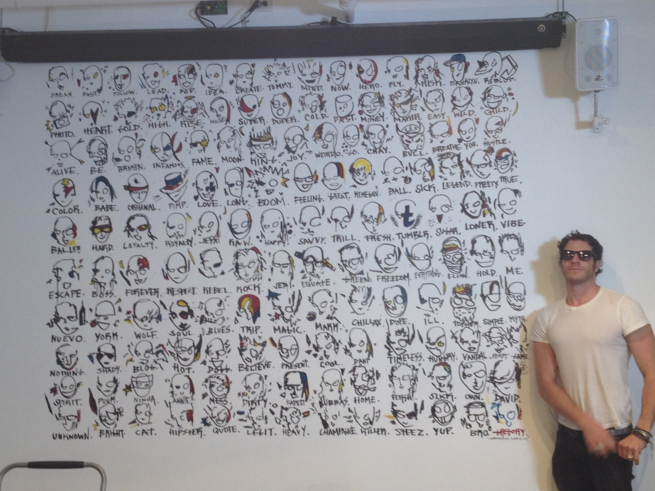 editorial:  Gregory Siff painted this rad mural at Tumblr's office on Friday! Thanks Gregg.  We have ART!
