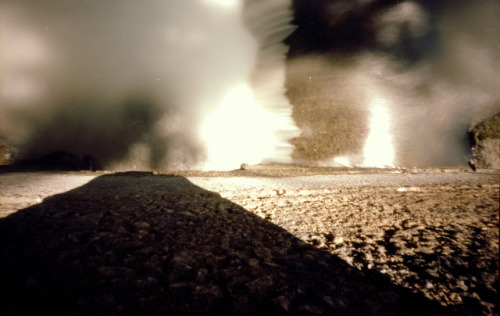 Pinhole: Waterstorm on Flickr.f235, Kodak Portra 160, about six seconds Sometimes we have to make our own horizon and start walking. I'm currently making my own but I anticipate the walk will be a stormy one. Some storms scare the shit out of me; it's too early to tell if this is one of those storms. But they cleanse. They clear the deadwood. There is considerable beauty, even in the wreckage, in knowing you survived. I've survived others, I will survive this one, too, if it comes.