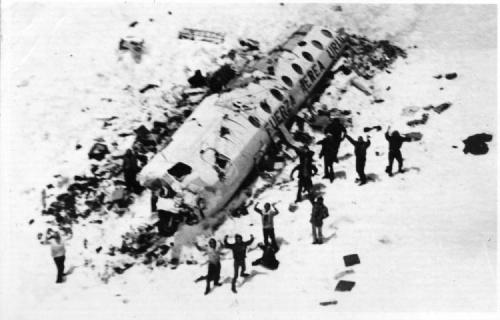 ramirezdahmerbundy:  Cannibalism and The Andes Flight Disaster - Perhaps the most famous act of cannibalism in recent history took place in the mountains of Chile during the winter of 1972. Uruguayan Air Force Flight 571 was carrying 45 passengers, including members of a rugby team and their families, when it crashed high in the Andes. Of the twenty-nine who survived the crash, eight died in an avalanche, leaving the remaining survivors with a whole heap of frozen meat and a difficult moral decision to make. Hearing over the radio that the search and rescue operation had been called off they knew that they could only survive by eating the dead passengers, many of whom had been friends of the survivors, and waiting out the winter. This almost unthinkable act allowed them to survive an incredible 72 days before rescue and gave passengers Nando Parrado and Roberto Canessa the energy needed to complete an incredible 12 day trek across the Andes in search of help. Their story was immortalised in the book 'Alive' and the 1993 film of the same name, and has since become one of the most famous survival stories of all time.