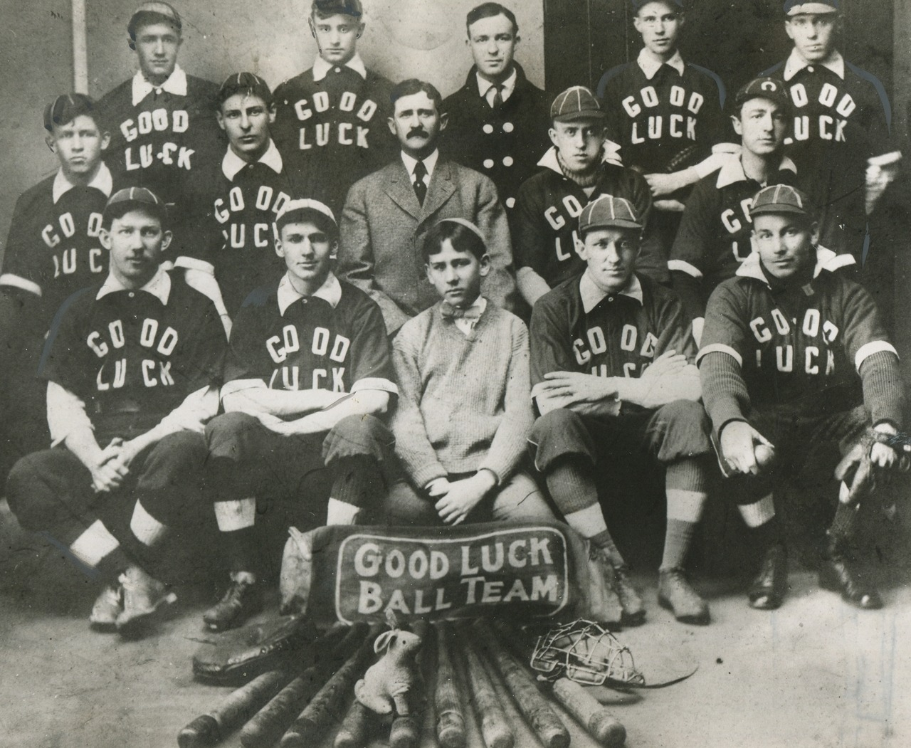 Amateur Baseball Michigan State Champions 1934.  Detroit's Good Luck Ball Team.  March 30, 1934