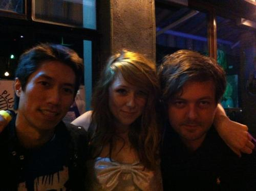 popserial:  Tao Lin and Rion Harmon with Kitty Pryde at her New York debut.