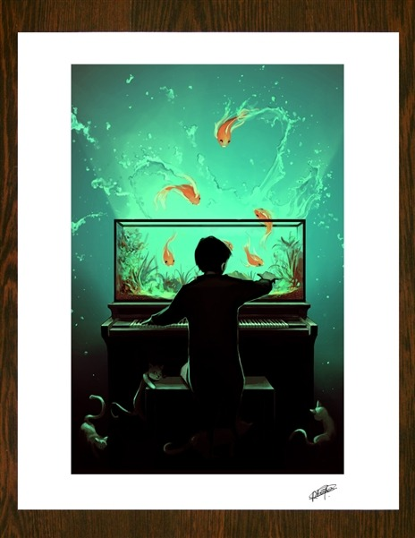 "curioos-arts:  ""Le Pianoquarium"" by ROLANDO Cyril - BUY NOW"