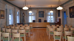 The beautiful Sessionssalen in the Piteå Museum in the north of Sweden, where I'll be performing Violin Variations tomorrow. Twice!