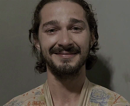 "vh1:  thetvscreen:  I'm really glad Shia LaBeouf has decided to stick with the whole bohemian-homeless-American Apparel connoisseur look. Also, the video for Sigur Ros' ""Fjögur Píanó"" is really great. Also also, Shia LaBeouf is naked. Like, really naked. Enjoy!  This is not a mugshot."