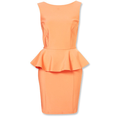"This season, Peplum is all the rage…This Coral Confection is absolutely gorgeous!! The ""Peplum Scuba Pencil Dress"" retails for $96.00 at TopShop, and is definitely on my MUST HAVE list~For a more subdued look, one could pair it with a nude peep-toe pump, or go all out and…. Color-Block iT!!! I would personally opt for a turquoise platform pump, a perfect complimentary color with coral!! Happy Shopping Dolls ;) xo     ROX"