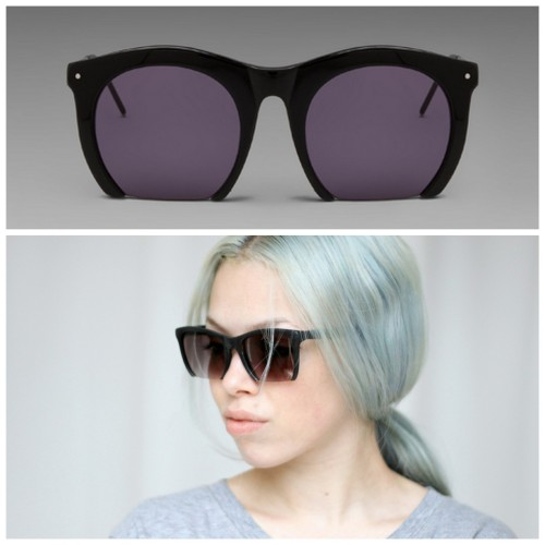 DIY Sawed Off Sunglasses Tutorial from Love Aesthetics here. Really big bang for your buck tutorial. Top Photo: $270 Grey Ant Sunglasses here, Bottom Photo: DIY by Love Aesthetics at link. *Yes, she dulls the lenses so they won't cut you :)