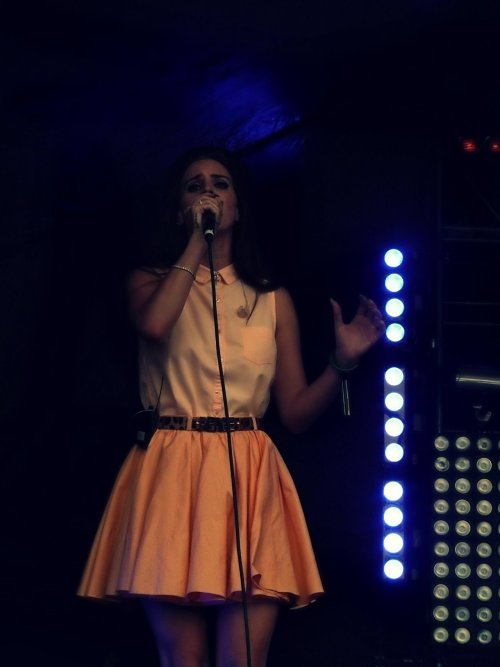 Lana Del Rey, Live from LoveBox, Victoria Park, London. 17/06/2012 Photo by me!Video and more photos to come!