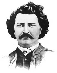 Louis Riel, Metis leader of the Red River Rebellion and Northwest Rebellion in Manitoba and Saskatchewan in the late 1800s. He was exiled from Canada and still managed to find time to help found the province of Manitoba. Also, he was convicted of treason and was executed in 1885. All because he stood up against the Eastern-run government for the rights of indiginous peoples in the West.  Plus, he has an awesome mustache.