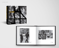 Book design for New York street photographer Matt Weber - Student work Matt Weber started photographing the people of New York whilst working as a Taxi Driver which enabled him to capture a wide range of people places and things around the city. This is a collection of his early work.  The design is based on a question rather than a statement: What is happening on the next street corner, the next train station or the coffee shop down the road? What is happening around you this very second?