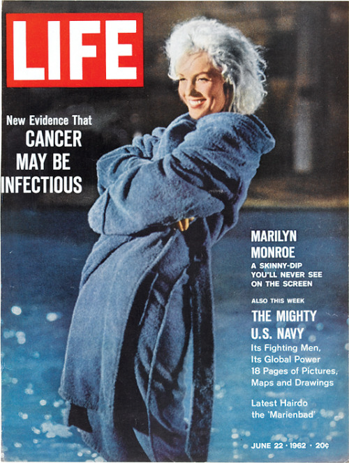 On this day in LIFE Magazine — June 22, 1962: Marilyn Monroe: A Skinny Dip You'll Never See On the Screen See more photos of Marilyn here.