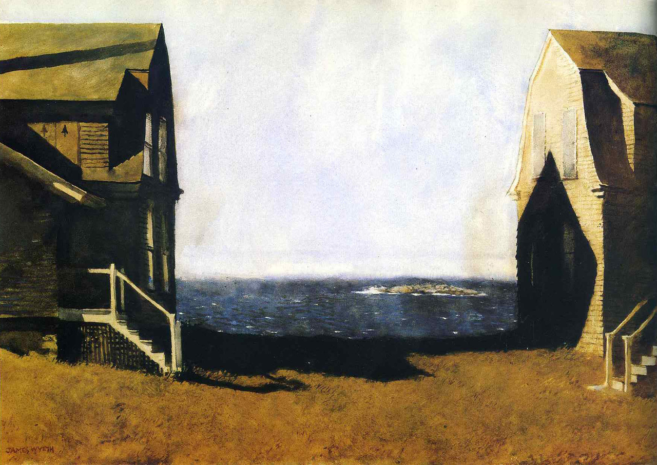Jamie Wyeth, Summer House, Winter House, 1975. 55.2 x 76.2 cm.