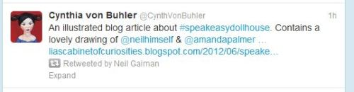 I just died. Neil Gaiman retweeted my blog post.
