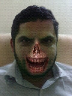 LOL, my ZombieBooth experiment! 3D zombify yourself here…