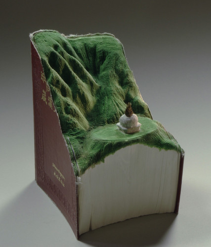 (vía 1 | Carved Up Books Become Tsunamis, Volcanoes and Caves | Co.Design: business innovation design)