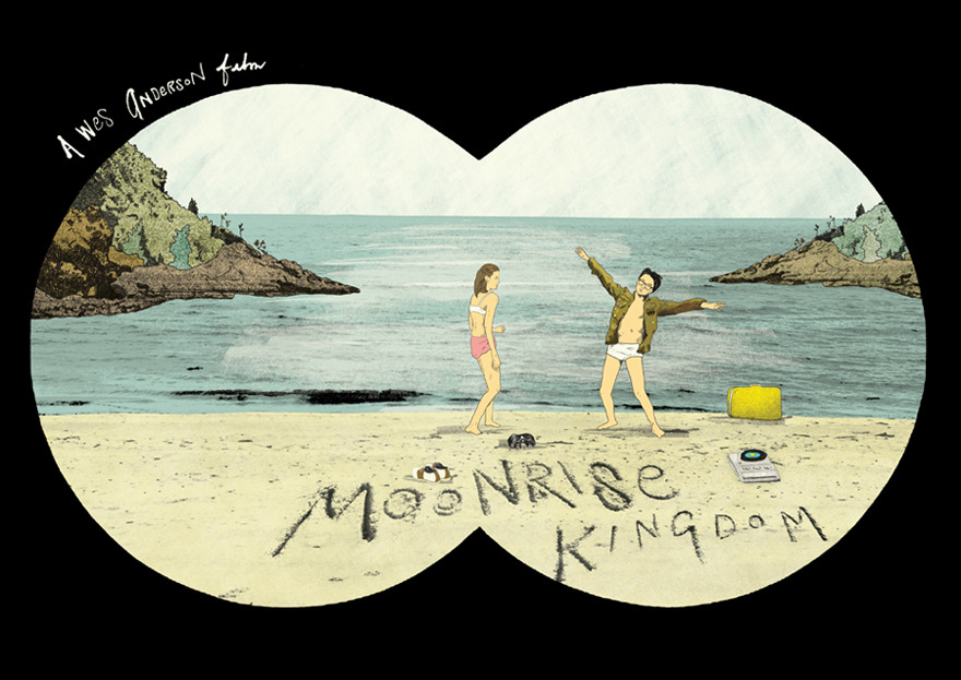 Another awesome Peter Strain, this time Wes Anderson's wonderful Moonrise Kingdom.