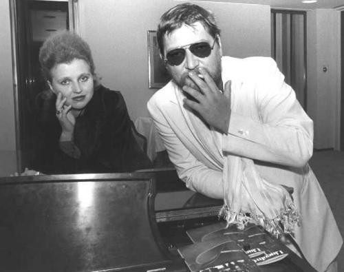Hanna Schygulla and Rainer Werner Fassbinder at the 17th New York Film Festival. Photo by Helaine Messer.