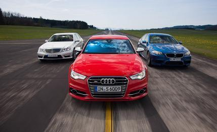 German monsterwagen comparison test: 2013 Audi S6 vs. 2013 BMW M5, 2012 Mercedes-Benz E63 AMG via Car and Driver
