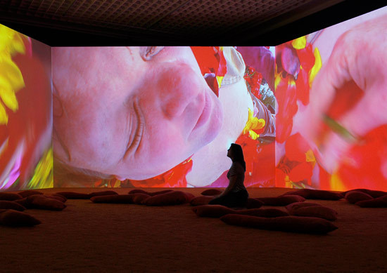 Pipilotti Rist, Lobe Of The Lung, 2009, Installation view at Boijmans van Beuningen, Photo by Ernst Moritz
