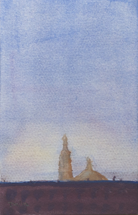 Santa Maria Magdalena de Pazzi (2), watercolor, 140 lb. cold pressed paper, 4 x 6 inches, 2012 $35, domestic USPS shipping and handling included in price. Click Shipping Details for UPS shipping. Transactions accepted via PayPal, please contact the artist.