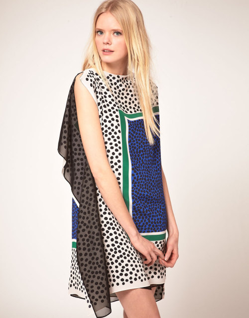 MSGM  Scarf Print DressMore photos & another fashion brands: bit.ly/IMcdgE
