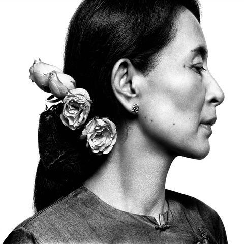 """newshour:  Aung San Suu Kyi accepts the Nobel Peace prize 21 years later:  """"Of the sweets of adversity, and let me say that those are not numerous, I have found the sweetest, the most precious of all, is the lesson I learned on the value of kindness. Every kindness I received, small or big, convinced me that there could never be enough of it in the world."""" Kindness, she said, """"can change the lives of people."""" (via New York Times) Photo by Platon"""