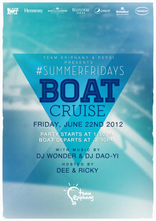 #SUMMERFRIDAYS. Still going strong. We on a boat.