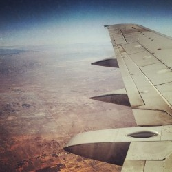 Cali sun. #california #sun #desert #airplane  (Taken with Instagram at 10,000 Feet In The Air)