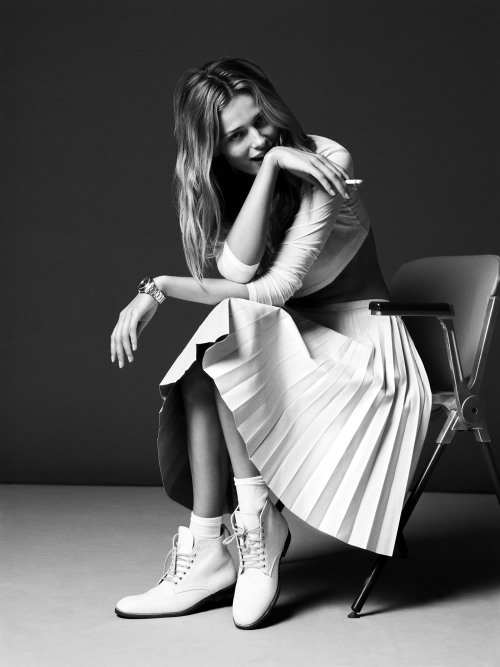 Cute Edita Vilkeviciute‎ graces for the Spring edition of Twin magazine, shot by Ben Weller and styled by Naomi Miller.        Original Article