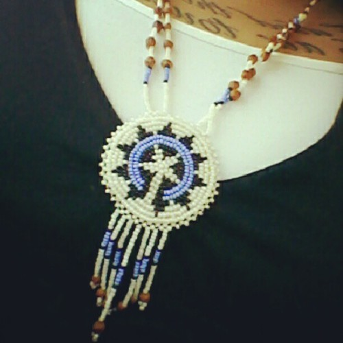 Necklace my mom gave me. #me #indian #native #pride (Taken with Instagram)