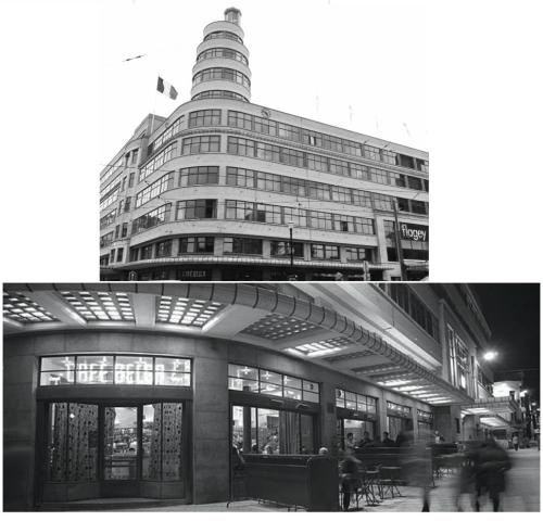 | flagey | brussels | 1930s | tv & radio station turned arts center & trendy café