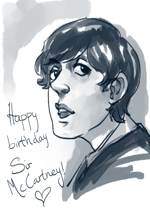 Happy birthday, Sir Paul McCartney. May you live a long and healthy life. :D