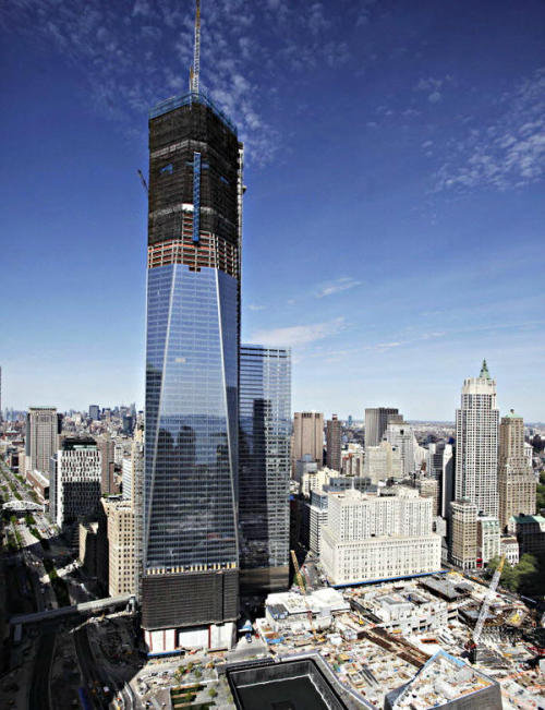 skyscraper:  One World Trade Center construction