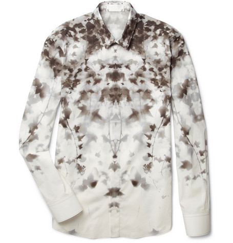Alexander McQueen Abstract Ivy-Print Shirt $845
