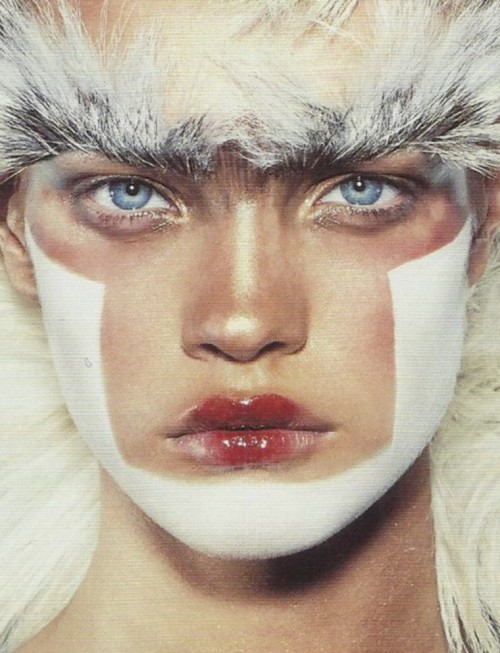 petrole:  natalia vodianova by steven klein for i-D may 2002