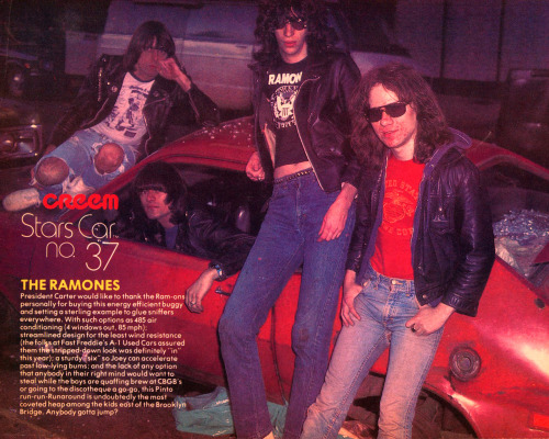 The Ramones in Creem magazine, April 1978.