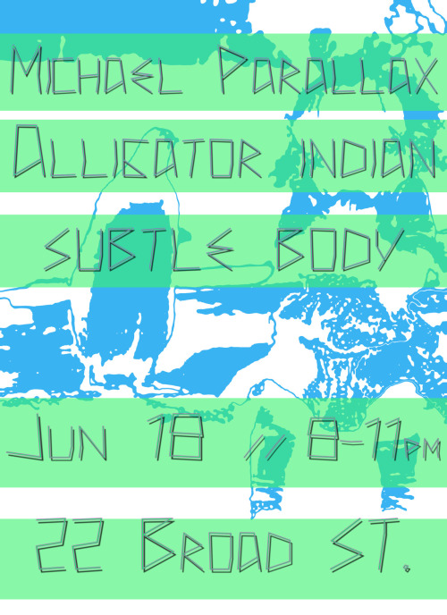 Playing a last minute show tonight with Michael Parallax and Subtle Body before we head up to NYC for FMLY FEST