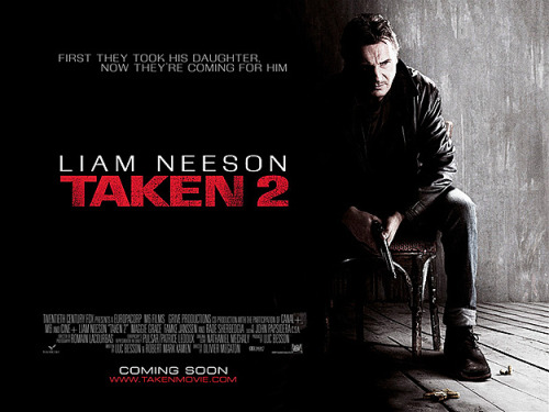 lizdexia:  popculturebrain:  Poster: Taken 2 | Latino Review So he's going to ask himself to get under the bed?  I wonder if Liam Neeson even knows he made this movie.  First, hahahaha about asking himself to get under the bed. Second, I thought he killed them ALL. Third, does he have to eat a kidnapper like he did with the wolf for that other shit movie he did recently? Let's also pretend that horrible shit with January Jones didn't happen too while we're at it.  I feel like at least in my mind he has fallen so very far.