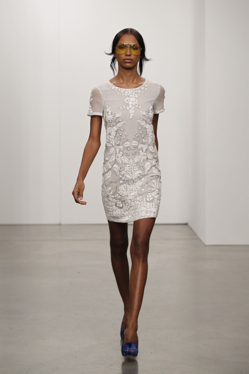 A sexy little white dress from Pucci's resort collection.