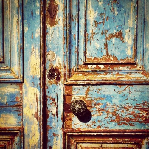 Blue door (Taken with Instagram at Avenham Park)