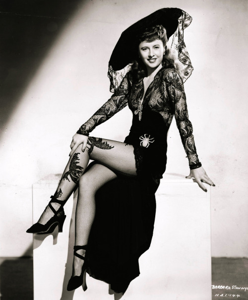 "Barbara Stanwyck in ""Lady of Burlesque"" (1943)."
