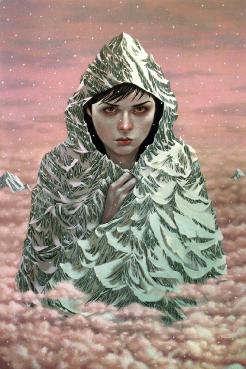 "Casey Weldon - ""Mt. Hood (Winter)"" acrylic on panel - 20"" x 30"" More details here:http://store.spoke-art.com/collections/casey-weldon-new-world-hoarder Part of Casey Weldon's solo show, ""New World Hoarder"" on view at Spoke Art in San Francisco, June 7th - June 23rd 2012"